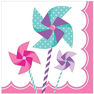 Creative Converting Turning One - Girl Lunch Napkins (16 Count)