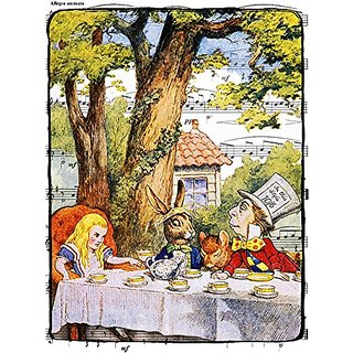11x14 Alice in Wonderland Decorations, the Mad Hatter Tea Party, Fine Art Archival Print. Illustration By John Tenniel.
