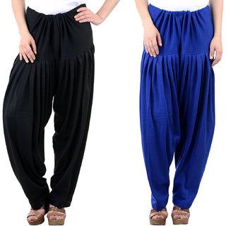 Pack of 2 Woollen Salwar - Black n Blue