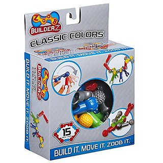Set includes 15 Pieces-5 Different Pieces Snap Together 20 different Ways-Unlimited Creative Building-Ages 6+