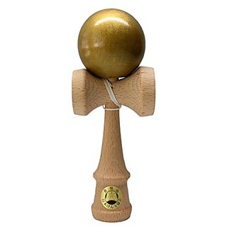 Shin Fuji Kendama Solid Gold - JKA Certified for Competition with Extra String