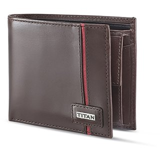 Titan  Brown Formal Wallets