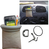 Biege Callmate Pouch Mobile Pen Iphone Ipod Holder Mount For Car Ac Vents