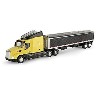 Ertl Peterbilt Model 579 Semi Vehicle With Grain Trailer