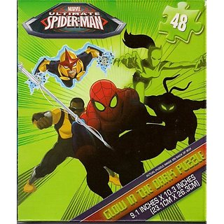Ultimate Spider-Man Glow In The Dark Jigsaw Puzzle - 48 pieces