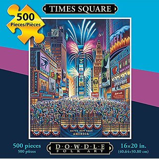 Jigsaw Puzzle - Times Square 500 Pc By Dowdle Folk Art