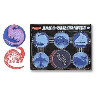 Melissa & Doug Jumbo Palm Stampers - Blue