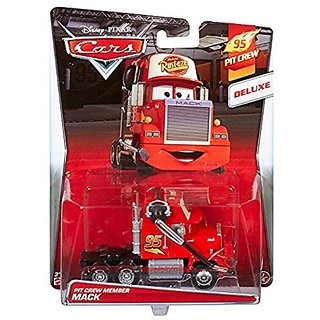 Disney Pixar Cars, 95 Pit Crew 2015 Series, Pit Crew Member Mack [With Headset] Deluxe Die-Cast Vehicle #7 8, 1:55 Scale
