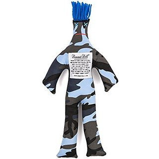 Dammit Doll - Dammit Camo Doll - Libert - Navy OG Camo, Bright Blue Hair - Stress Relief, Gag Gift