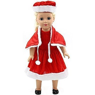 Vanna Wan Christmas Dress Clothes Fits 18 American Girl Dolls