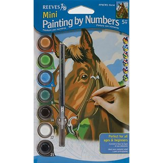 Reeves Horse Painting Set by Numbers, Mini
