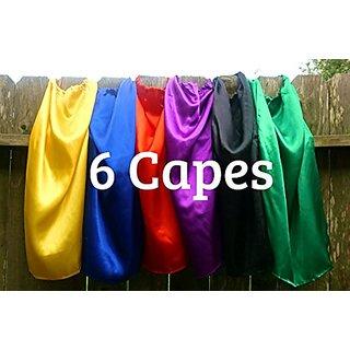 Super Hero Capes Children Set of 6