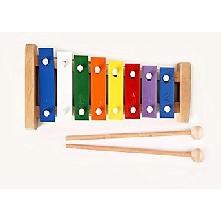 Wooden, Colourful Childrens Toy Xylophone 8 bars tones