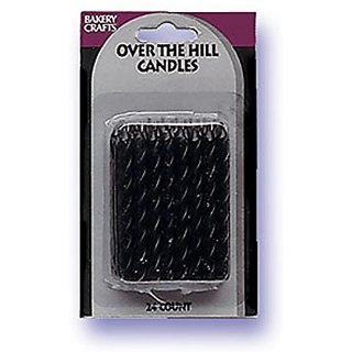 Oasis Supply Candy Stripe Birthday Candles, 2.5-Inch, Black