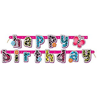 5.4ft Wild Happy Birthday Banner