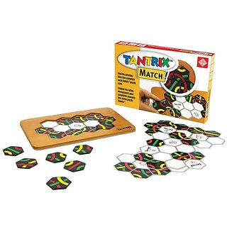 Tantrix Match! Puzzle Board Game with Wooden Board