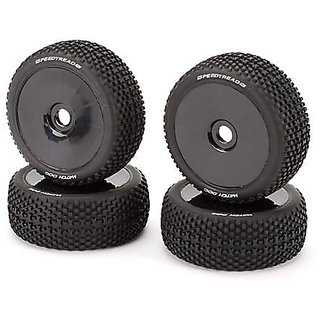 ECX Mounted Wheel Tire Set (4): Revenge Type E N