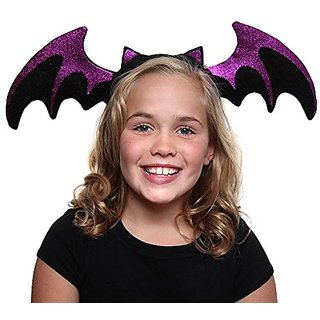 Purple Glitter Bat Headband