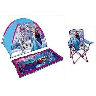 Disney Frozen Play Tent, Sleeping Bag and Folding Chair Discovery Set