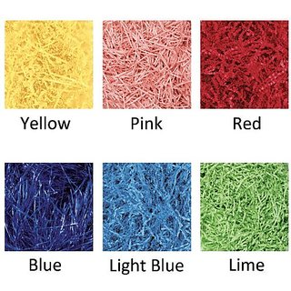 Amscan Festive Solid Color Paper Shreds & Strands Party Supply, Blue, 2 oz