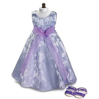 Lavender Field ~ Holiday Party Doll Dress & Sandals, Fits 18