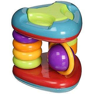 From Manhattan Toys baby collection-Includes 6 spinners and rings to help foster fine motor skill development-Features