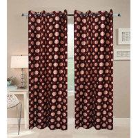 Deal Wala Pack Of 2 Dots Design Door Curtain{sp 02}