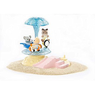 Merry-go-round spins as you turn the handle!-Merry-go-round measures 6