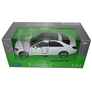 Welly Mercedes Benz S Class 1 24 Scale Diecast Model Car White