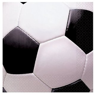Soccer Fan Beverage Napkins Party Accessory