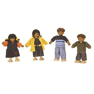Plan Toys Dollhouse Ethnic Doll Family 1345