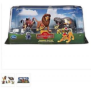 The Lion King - Lion Guard Birthday Cake Topper Figure Set Featuring Kion, Simba, Fuli, Timon with Pumbaa, Beshte with O