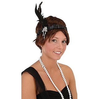 Flapper Headband Party Accessory (1 count) (1 Pkg)