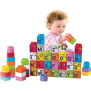 Combines building and learning in one-23 basic building blocks in a variety of shapes and colors-Illustrated object ass
