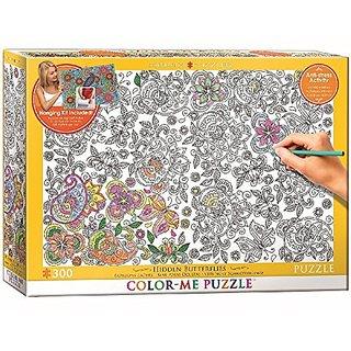 EuroGraphics Hidden Butterflies Color Me Puzzle (300 Piece)