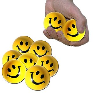 Toy Cubby Yellow Smiley Face Stress Ball - 24 Pcs. 1.5 inches
