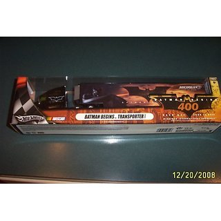 Batman Begins Michigan International Speedway NASCAR Race Day June 19 2005 Theme Hotwheels Hauler Trailer Rig Semi Tract