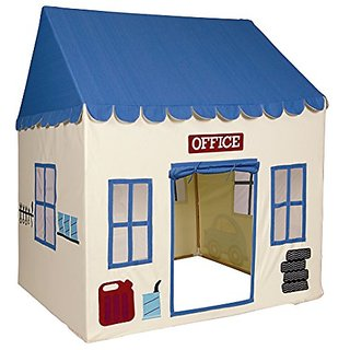 Pacific Play Tents Kids My First Garage Cotton Canvas House Tent Playhouse - 52.5