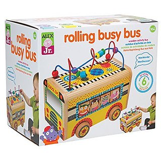 The beads on the bus go round and round-Fun colorful activities on every side-PAL Award, Parents Choice Approved Award