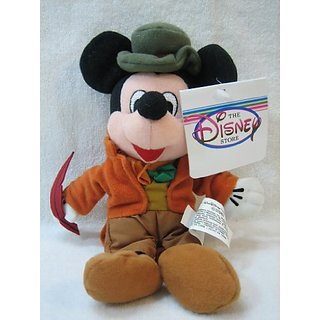 Disney Bean Bag Plush Mickey Mouse As Bob Cratchit 8