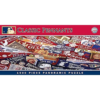 MasterPieces MLB Classic Pennants Panoramic Jigsaw Puzzle, 1000-Piece
