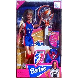 WNBA Basketball Blonde Barbie Doll by Mattel