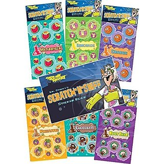 1 copy of Dr Stinkys Sticker Book which makes this set a great gift for the young collector.-Scratch N Sniff Stickers 6