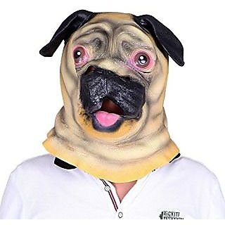 Sunxue Halloween Costume Pug Head Mask and Dog Head Mask