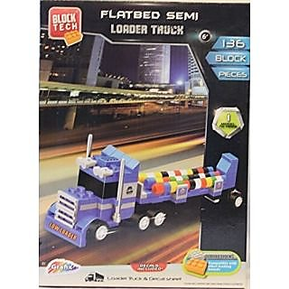 136 Block Pieces-Semi Loader Truck-Decals Included-Compatible with other leading brands-Instructions included