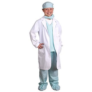 Aeromax Jr. Physician set with Green Doctor Scubs and White Lab Coat, size 4 6.