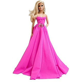 Sweetheart Hot Pink Handmade Evening Dress for Barbie Doll