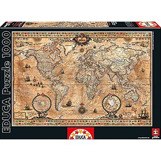 Antique World Map 1000-Piece Puzzle