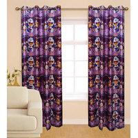 Deal Wala Pack Of 2  Doremon Design Eyelet Door Curtain(sp03}