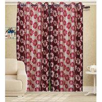 Deal Wala Pack Of 2 Flower Design Door Curtain{sp 04}